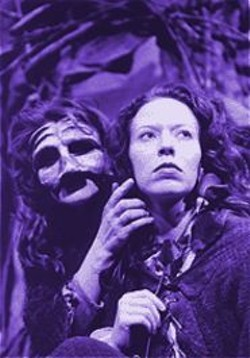 DAVID  ALLEN - Theatrical Enchantment: Cambron Williamson and Emily Ackerman in Kissing the Witch.