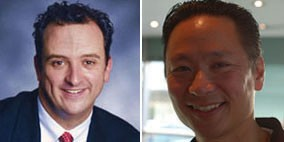There's no love lost right now between Supervisor Sean Elsbernd (left) and Public Defender Jeff Adachi