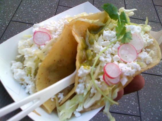 Thermidor's tacos, two for $5. - JONATHAN KAUFFMAN