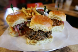 MIKE KOOZMIN - These aren't your average sliders: Indian pav sandwiches at Juhu Beach Club.