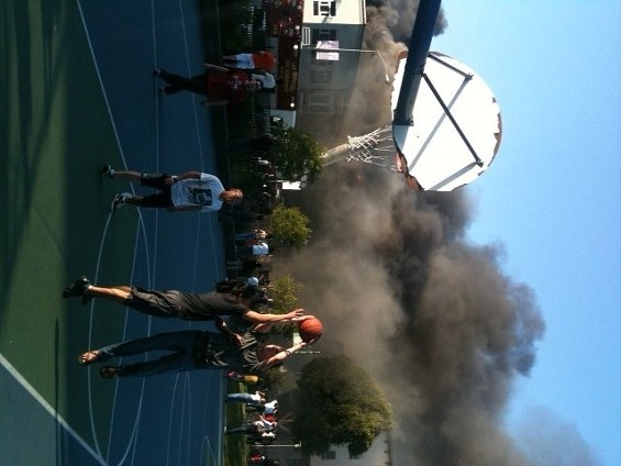 They're waiting for the ball to catch on fire, apparently... - JAKE SWEARINGEN