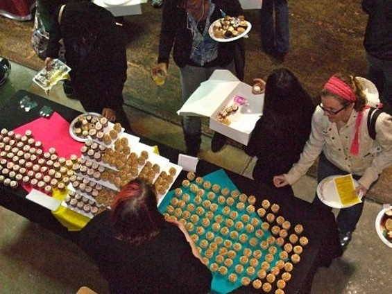 Think cupcakes are out? Tell that to the people who shelled out $40 to attend Sunday's competition in SOMA. - TAMARA PALMER