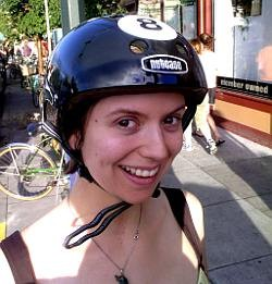 This bicyclist loves her brain. - LUMACHROME / FLICKR