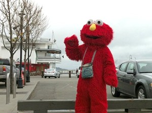This Elmo is an experienced jailbird