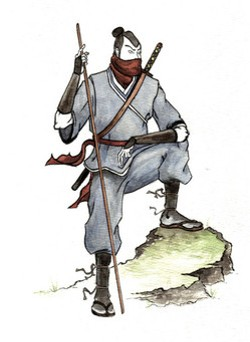 This is a picture of a ninja. The label is called Ninja Tune. That was all the connection we needed.