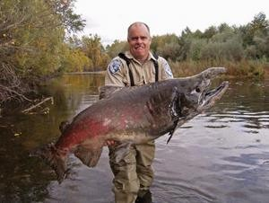 This is not AquaBounty's GM salmon. It is also not PhotoShopped. Good god.