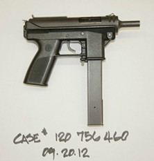 This is the gun the suspect allegedly used