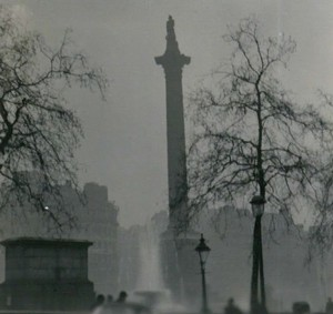 This isn't a grainy photo of Nelson's Column. It's killer smog. - N T STOBBS
