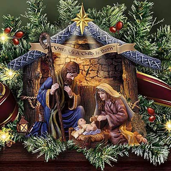 Thomas Kinkade, who created this nativity figure and boatloads of other 'inspirational' works of art, will now have to draw $2.1 million, according to a San Francisco court - THOMAS KINKADE
