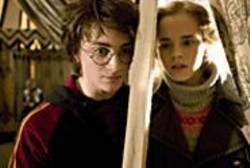 MURRAY  CLOSE - Those Meddling Kids: Daniel Radcliffe - (Harry) and Emma Watson (Hermione).