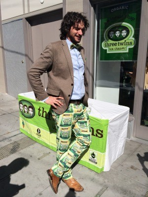 Three Twins founder Neal Gottlieb rocks some snazzy pants. - PETE KANE