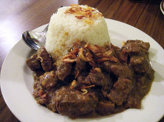 Thumbs up: Lime Tree's beef rendang. - LUIS CHONG