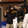 The Giants Show: As One Team Takes the Field at AT&T Park, Another Turns the Game Into a Story