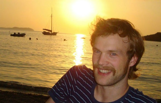 Todd Terje enjoying a sunset