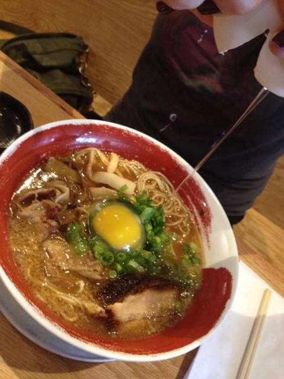Tokushima ramen comes with a pasteurized raw egg. - DOUGLAS ZIMMERMAN