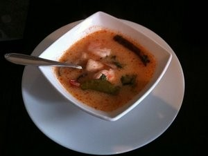 Tom yum with shrimp from Lers Ros. - KAYCIE L./YELP