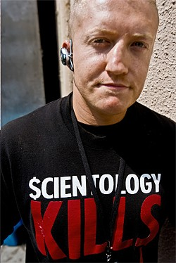 JARED GRUENWALD - Tommy Gorman used to picket the houses of Scientology critics. He now uses the same tactics to protest the church itself.