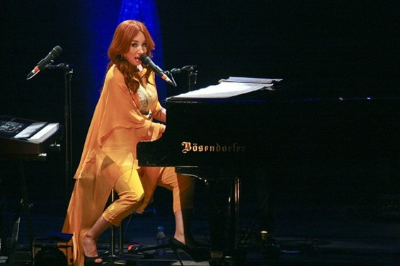 Tori Amos at the Paramount on Friday. - CHRISTOPHER VICTORIO