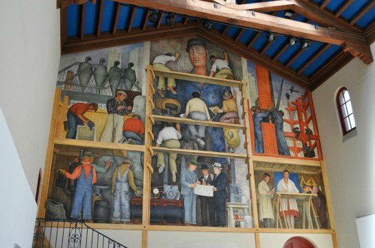 A Diego Rivera masterpiece in San Francisco,  The Making of a Fresco Showing the Building of a City. - JUAN DE ANDA