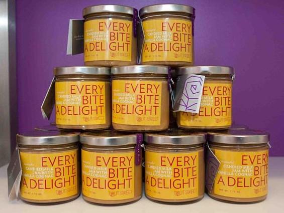 Tout Sweet's candied milk jam with vanilla cognac. - DREW ALTIZER PHOTOGRAPHY