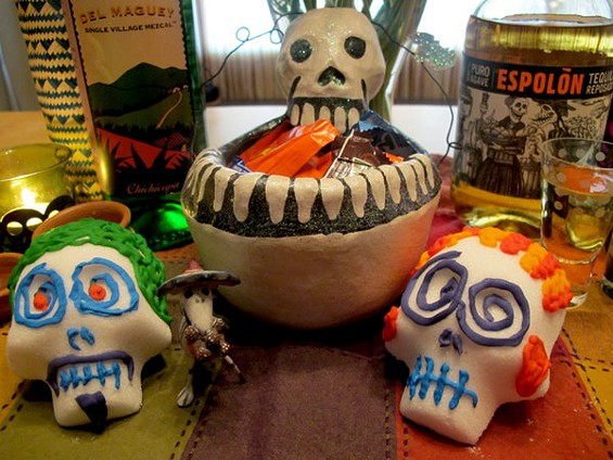 Traditional Day of the Dead alters include candy, sugar skulls ― and booze! - LOU BUSTAMANTE