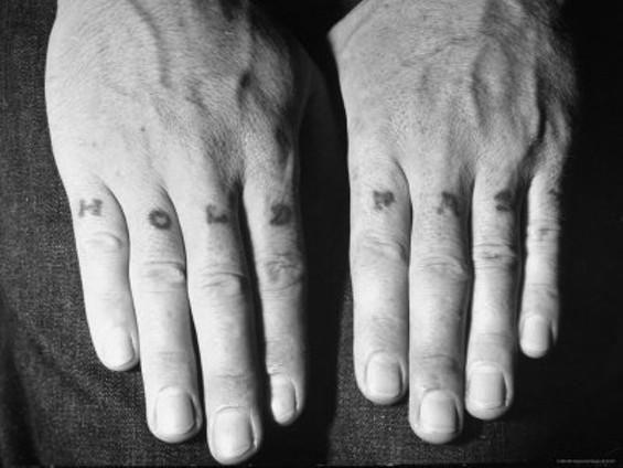 Traditional sailor tattoo. - PHOTO VIA LIFE MAGAZINE.