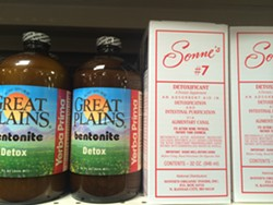 Bentonite supplements on the shelf at Rainbow Grocery. - PETE KANE