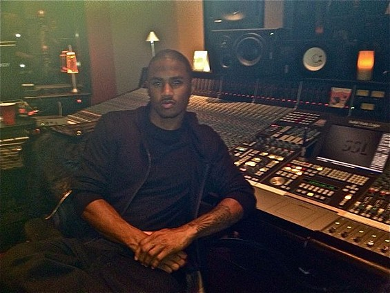 Trey Songz serves up studio seduction. - TAMARA PALMER