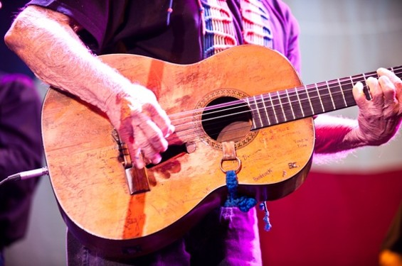 Trigger, Willie Nelson's guitar. - RICHARD HAICK