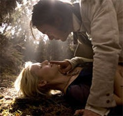 DAVID JAMES - Tristan (Charlie Cox, top) falls in love with Yvaine (Claire Danes, bottom), a fallen star, in Stardust.