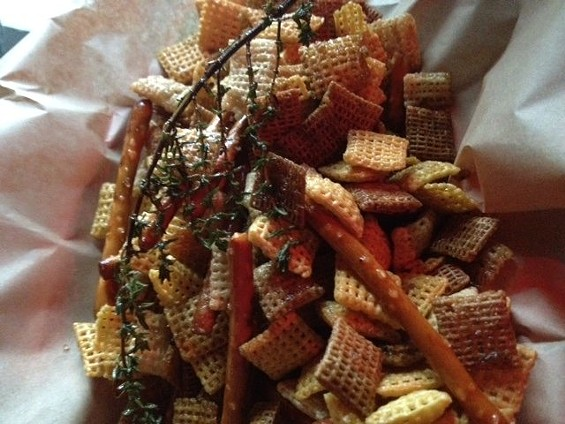 Truck Stop Cafe's duck fat Chex mix. - TAMARA PALMER