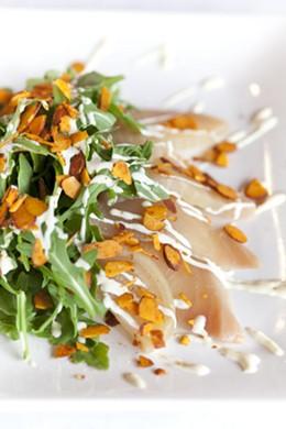 Truffled beet salad at Umami Burger. - ANNE FISHBEIN