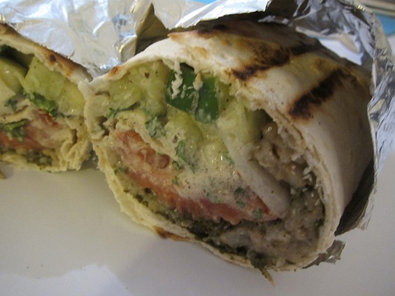 Truly Mediterranean's dolma sandwich, a conundrum wrapped in an enigma wrapped in tinfoil, $5.50. - CARINA OST