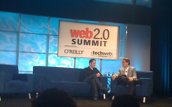 Twitter Founder Evan Williams yuks it up with Federated Media CEO John Battelle