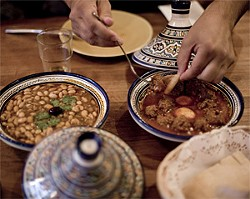 JEN SISKA - Two tagines to die for: white bean (left) and kefta.