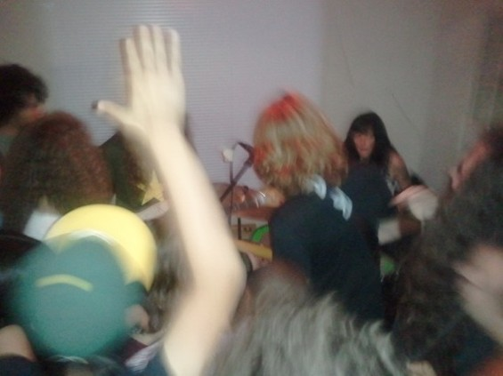 Ty Segall and his band among the throngs at DAM Haus - MICHAEL SCHULTZ