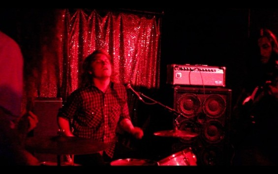 Ty Segall playing with Fuzz at the Knockout last night. All photos by the author.