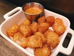 Tator tots with smoked spices and a Russian dressing - BETTY WANG