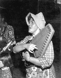 Jean Ritchie playing autoharp at the Florida Folk Festival - White Springs, 1976