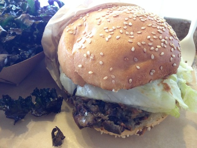 Big Chef Tom's Belly Burgers' Veggie Burger - TREVOR FELCH