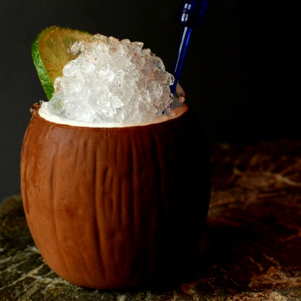The Forbidden Shake made with Cana Brava and Diplomatico rums gets the black rice horchata treatment at Blackbird tonight. - BLACKBIRD BAR