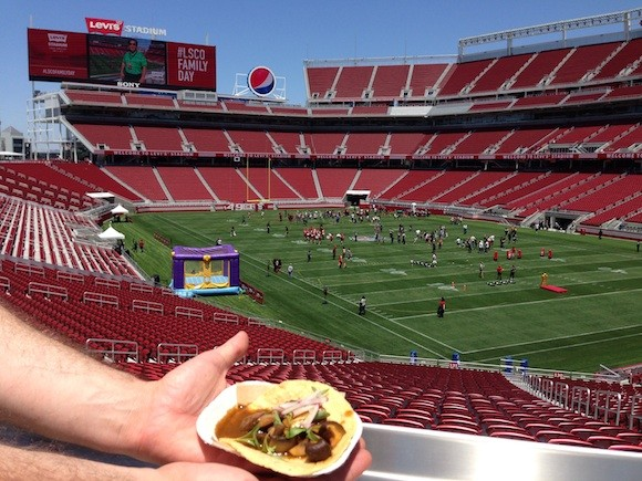 José Andrés' Mushroom Tacos Cooked Via Solar Energy Enjoy The Levi's Stadium View - TREVOR FELCH