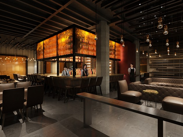 Bar and lounges. - RENDERING: ARCSINE