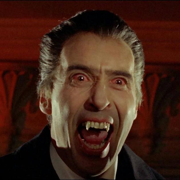 Sir Christopher Lee as Dracula - HAMMER FILMS