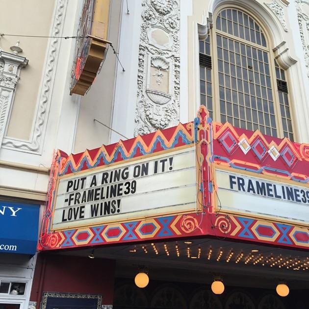 Frameline celebrates nationwide marriage equality. - PETER LAWRENCE KANE