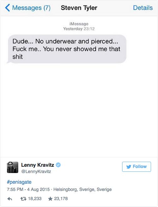TWITTER / LENNY KRAVITZ