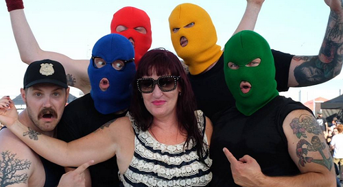 Erin Burkett, with Masked Intruder