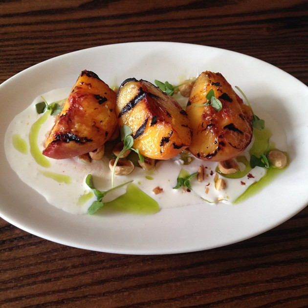 Grilled Frog Hollow Peaches - A.K. CARROLL