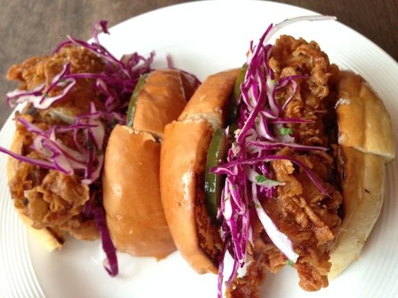Rove Kitchen's Fried Chicken Sandwich - TREVOR FELCH