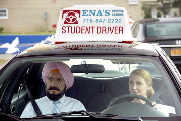 Sir Ben Kingsley and Patricia Clarkson in Learning to Drive. - COURTESY OF BROAD GREEN PICTURES